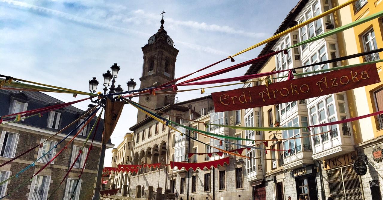 entrada mercado medieval vitoria