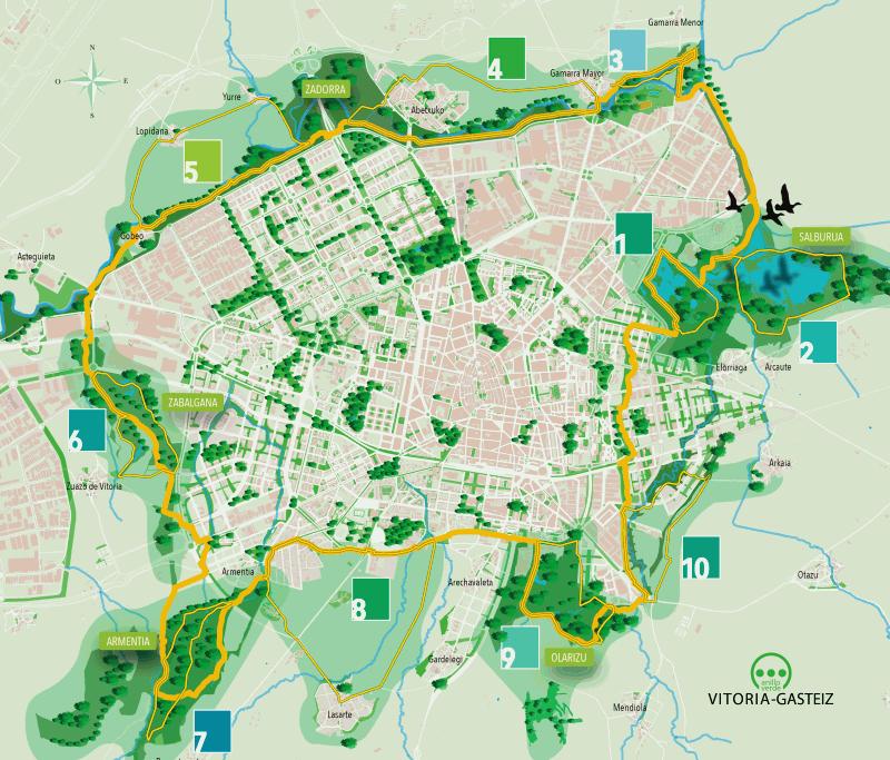 Nos vamos de paseo por el anillo verde de vitoria gasteiz - Anillo verde ciclista madrid mapa ...
