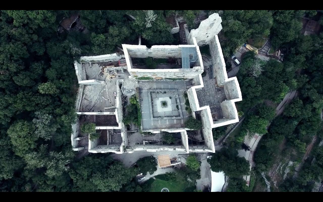 Vista aerea jardín santa catalina