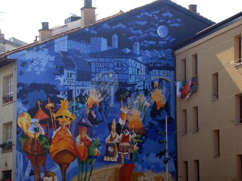 noche san juan mural vitoria