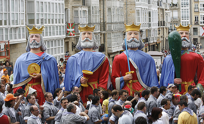 Fiestas de Vitoria-Gasteiz gigantes
